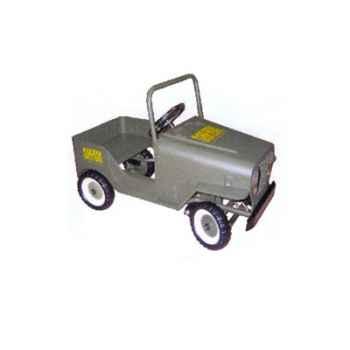 Voiture à pédales Jeep gris vert - 9601