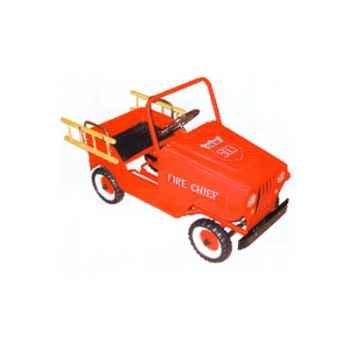 Voiture à pédales Jeep rouge pompier - 9602