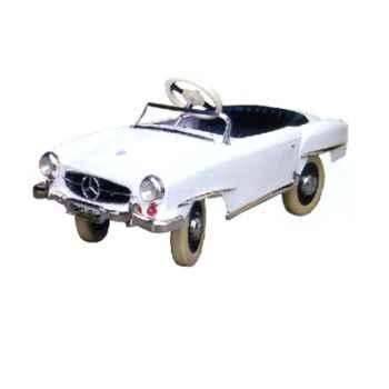 Voiture à pédales Mercedes blanc - 12659w