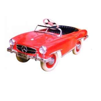 Voiture à pédales Mercedes rouge - 12659