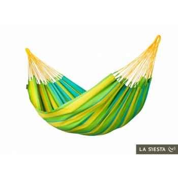 Hamac simple colombien sonrisa lime (résistant aux intempéries) La Siesta -SNH14-4