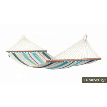 Hamac à barres simple colombien caribena aqua blue La Siesta -CIR11-3