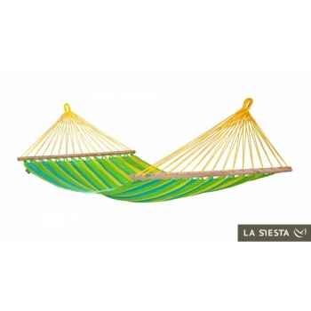 Hamac à barres simple colombien sonrisa lime (résistant aux intempéries) La Siesta -SNR11-4