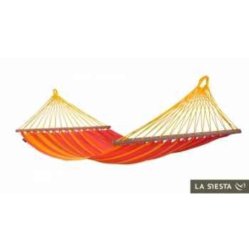 Hamac à barres simple colombien sonrisa mandarine (résistant aux intempéries) La Siesta -SNR11-5