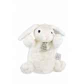 marionnette peluche lapin ivoire 1228