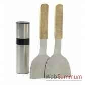 cooking box kit spatules avec diffuseur d huile favex 9713018