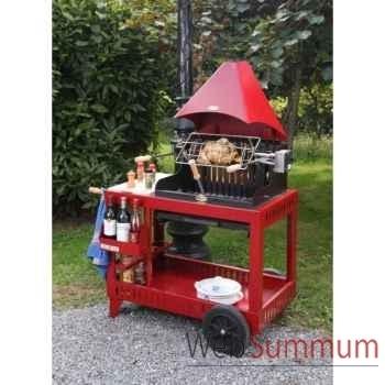 Mendy s/chariot acier - rouge Le Marquier -BAR3540C14