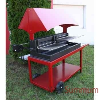 Barbecue grilloir mechoui - rouge Le Marquier -BAR3590C14