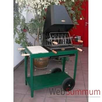 Aldudes pm s/chariot acier vert Le Marquier -BAR3593E