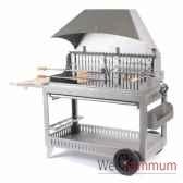 barbecue etchalar inox sur chariot le marquier bci200