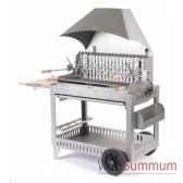 barbecue irouleguy inox sur chariot le marquier bci201
