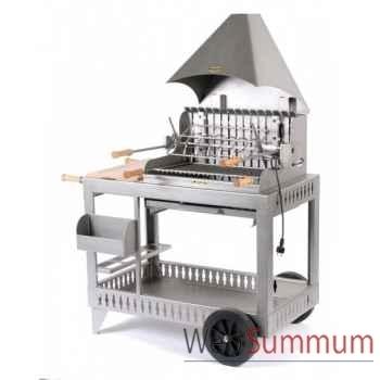 Barbecue mendy inox sur chariot Le Marquier -BCI202