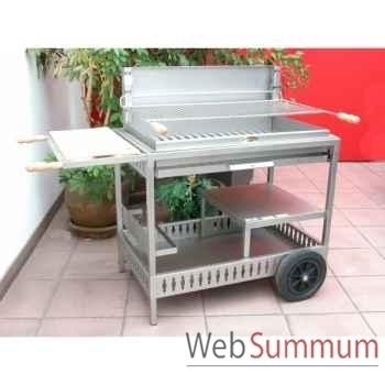 Barbecue iholdy inox sur chariot Le Marquier -BCI208