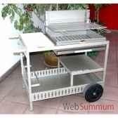 barbecue montory inox sur chariot le marquier bci209