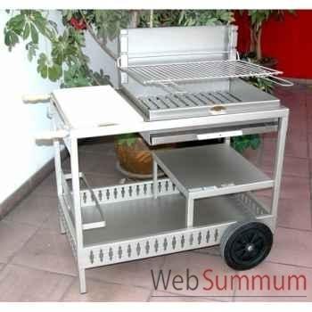 Barbecue montory inox sur chariot Le Marquier -BCI209