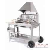 barbecue isturits inox sur chariot le marquier bci213