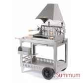 barbecue meharin inox sur chariot le marquier bci214