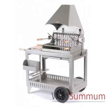 Barbecue meharin inox sur chariot Le Marquier -BCI214