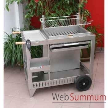 Barbecue monte-igueldo inox À vÉrin tÉlÉcommandÉ Le Marquier -BCI226