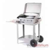 ainara 3 feux inox s chariot avec couvercle le marquier bap3309i