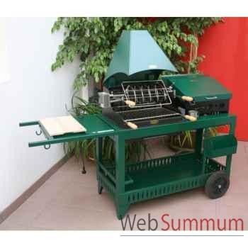 Meharin alde acier vert s/char plancha couvercle Le Marquier -BAP3318C10