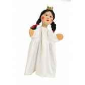 marionnette kersa dame avec robe blanche 13748