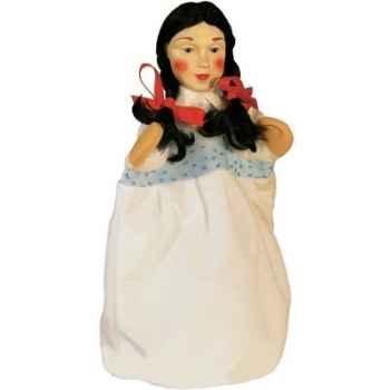 Marionnette Kersa - Dame avec robe blanche - 30500