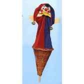 marionnette marotte kersa le fou avec clochettes 50190