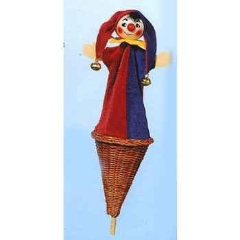 Marionnette marotte Kersa Le Fou avec clochettes - 50190