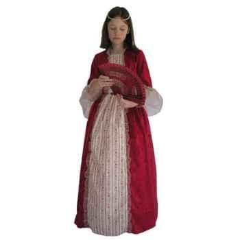 Au fil des contes - Robe de marquise rouge avec jupon - Taille 4 ans