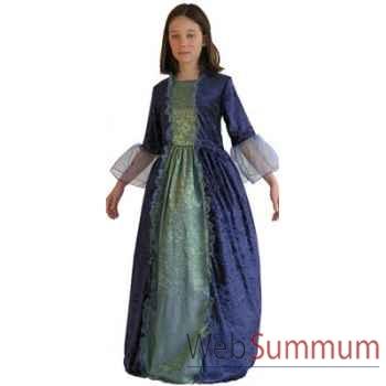 Au fil des contes - Robe de marquise bleue avec jupon - Taille 8 ans