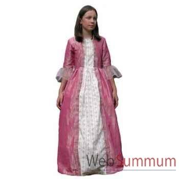 Au fil des contes - Robe de marquise rose avec jupon - Taille 4 ans