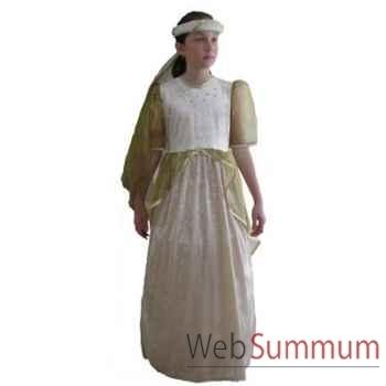 Au fil des contes - Robe princesse dorée - Taille 10 ans