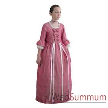Au fil des contes - Robe Marie Antoinette avec jupon et tour de cour - Taille 8 ans