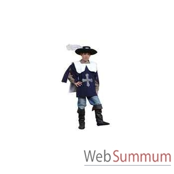 Au fil des contes - Costume de Mousquetaire avec chapeau - Taille 10 ans