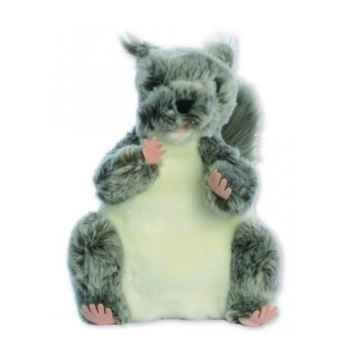 Marionnette peluche à main - Ecureuil gris-24016