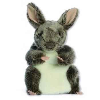 Marionnette peluche à main - Lapin gris-24017
