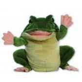 marionnette peluche a main grenouille 24018