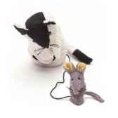 marionnette tissus chat et souris luna en sonic 5704