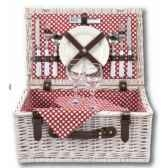 panier pique nique polka dot 2 personnes basket carnivacollection optima 224 690