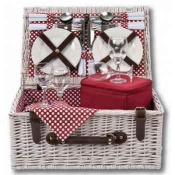Panier pique nique polka dot 4 personnes basket - carnival collection Optima -225 690