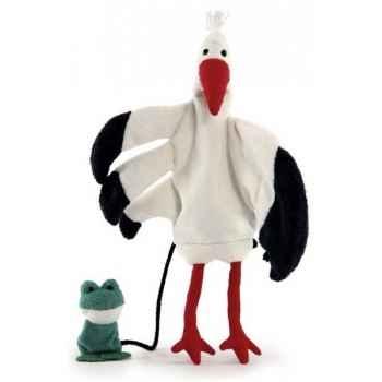Marionnette tissus- Cigogne- Toni -5731