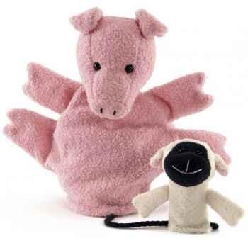 Marionnette tissus- Cochon Valerie -5732