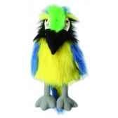 marionnette peluche a main ara bleu et jaune 23105