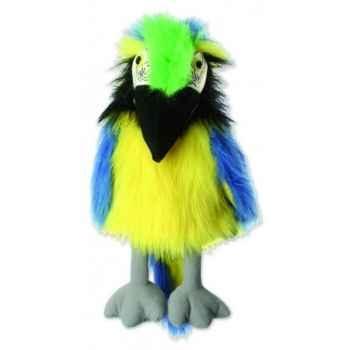 Marionnette peluche à main - Ara Bleu et Jaune-23105