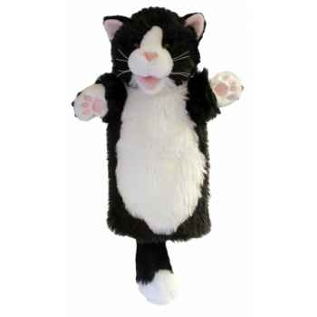 Grande marionnette peluche à main - Chat noir et blanc-26003