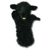 grande marionnette peluche a main mouton noir 26005