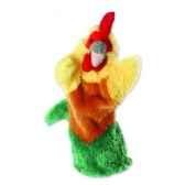grande marionnette peluche a main coq 26008