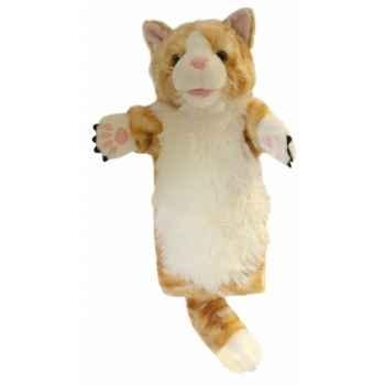Grande marionnette peluche à main - Chat Ginger-26014