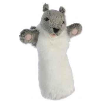 Grande marionnette peluche à main - Ecureuil  gris-26018